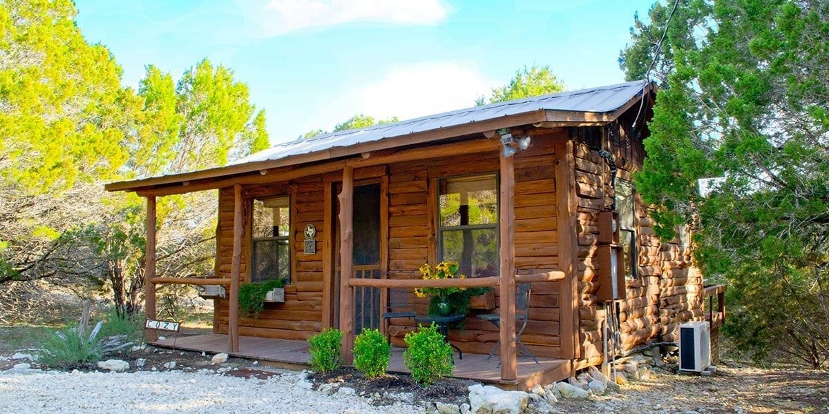 cozy cabin hill country premier lodging