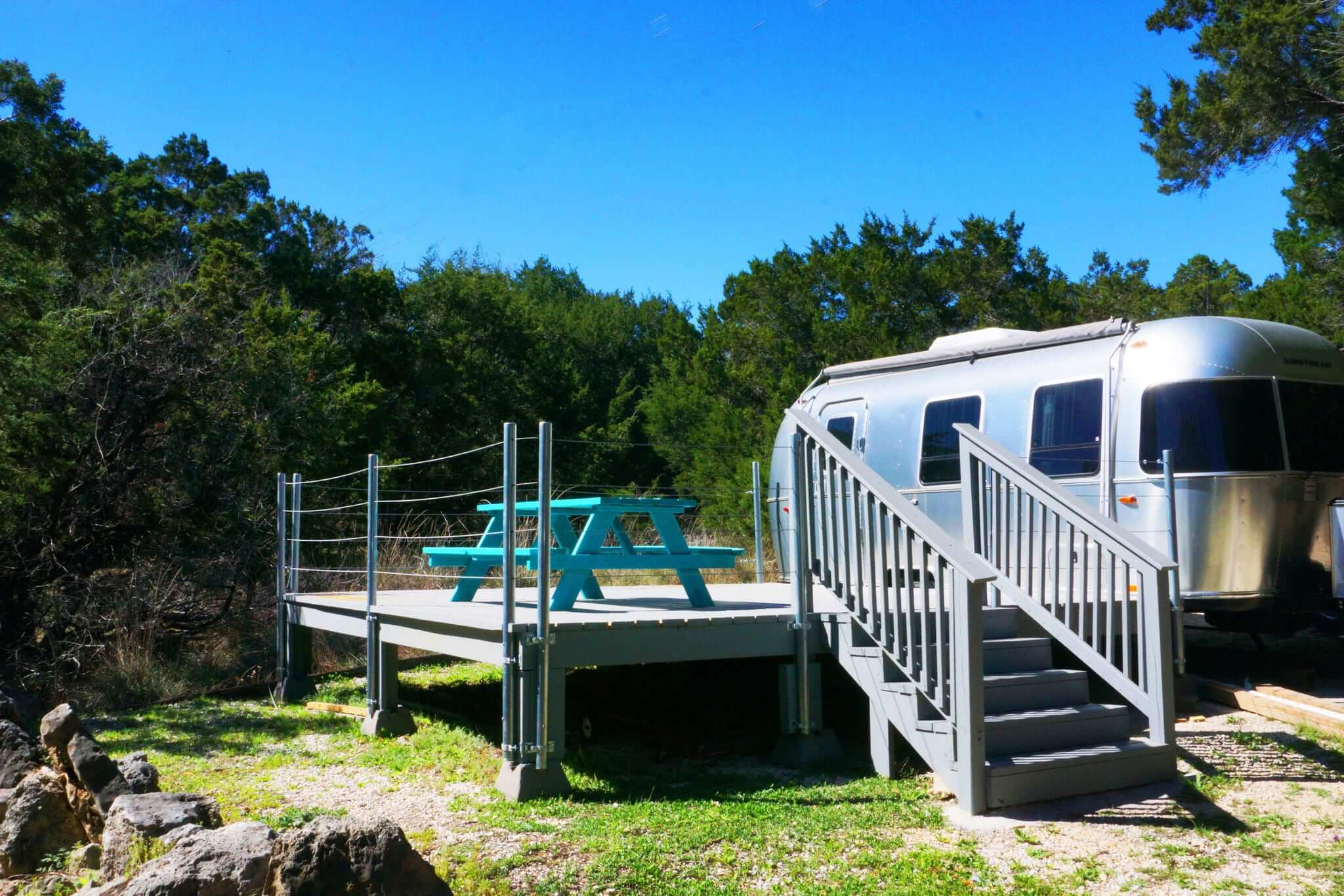 Staying in an recreational vehicle is a fun way to relax in the Hill Country