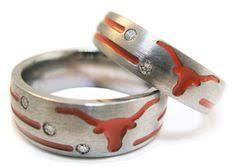 Texas Longhorn Wedding Rings