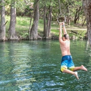 Blue Hole Regional Park is located very close to Wimberley Square. This local swimming hole is fun for all ages. The clear, slow moving water helps cool folks off during hot summer months.