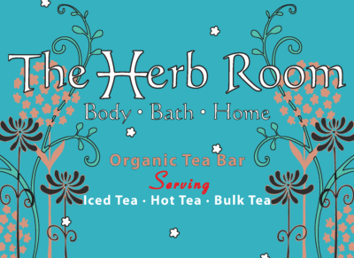 "The Herb Room Tea Bar serves 40+ varieties of organic & fair trade teas including a variety of our custom ""in house"" tea blends."