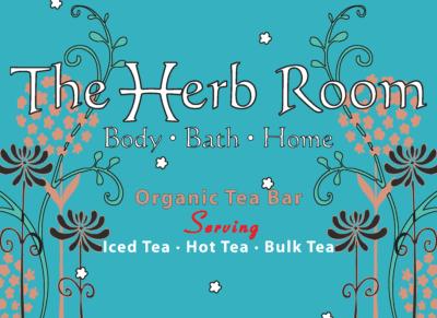 "The Herb Room Tea Bar serves 40+ varieties of organic & fair trade teas including a variety of our custom ""in house"" tea blends."