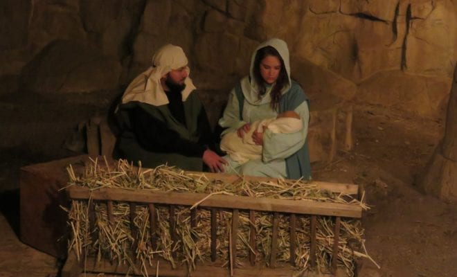 A live depiction of Bethlehem comes to life on Main Street in Burnet, TX