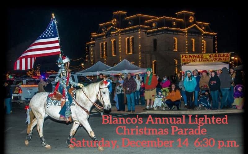 Season Spirit at the Blanco Lighted Christmas Parade
